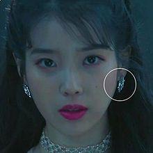 51155耳钉式, 平面/立体几何图形圆形 明星款 李智恩