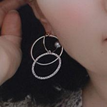 51220耳钉式, 天体自然现象星星 圆环 珍珠 后挂式