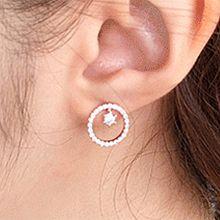 51230耳钉式圆形 圆环