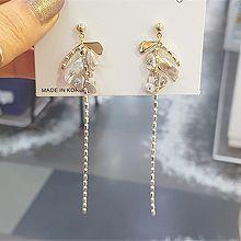 51263耳钉式巴洛克珍珠 珠子 椭圆形