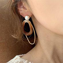 51270耳钉式珠子 珍珠 椭圆形 不规则形