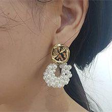 51310耳钉式正方形 珍珠 珠子