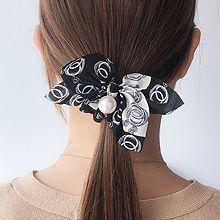 51133发圈发绳, 蝴蝶结, 平面/立体几何图形珠子 圆形 蝴蝶结