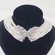 51306穿珠链, 多层链, 动物珠子 珍珠 圆形 蝴蝶