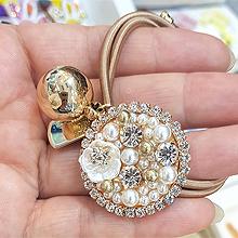 51323发圈发绳, 心形, 植物花 圆形 心形 正方形 珠子 珍珠 圆球