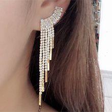 51336耳钉式, 耳夹流苏 水滴形 弧形 长方形 耳夹
