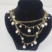 51343锁链形, 多层链圆形 珠子 珍珠 椭圆形 四层