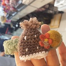 51403发圈发绳, 植物帽子 花 毛球 编织