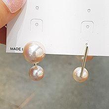 51515耳钉式珍珠 珠子 后挂式 不对称