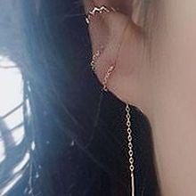 51538耳钉式, 耳夹二线 耳夹 曲折 整件925银