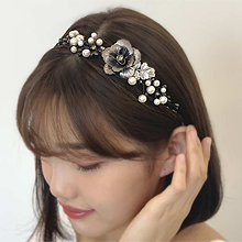 51329发箍发带, 植物花 珠子 珍珠 发箍 叶子