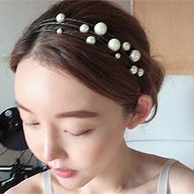51394发箍发带发箍 多层 珍珠 珠子