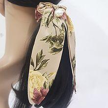 51539发圈发绳, 蝴蝶结, 植物蝴蝶结 花 珍珠 珠子 叶子