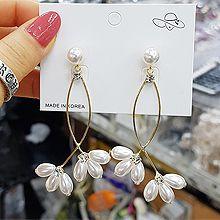 52439耳钉式珍珠 珠子 圆形 花