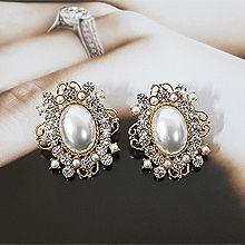 52455耳钉式圆形 珍珠 珠子