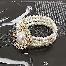 52456珠仔链, 穿珠链, 单层链珍珠 珠子 圆形