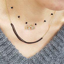 52461锁链形, 绳子形, 多层链, 字母数字/符号字母me 多层 圆形 珠子