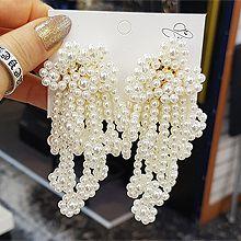 52491耳钉式圆形 珠子 珍珠