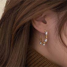 52521耳钉式圆形 珠子 c形 三件套