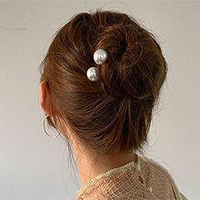 52490发簪圆形 珍珠 珠子