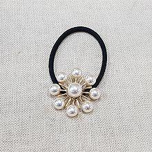 52497发圈发绳, 植物珍珠 圆形 珠子 花