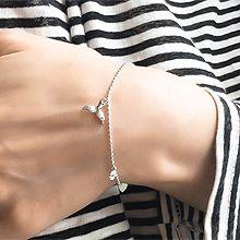 52453珠仔链, 单层链, 动物尾巴 圆形 珠子 整件925银