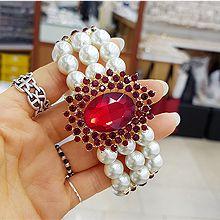 52527珠仔链, 单层链椭圆形 珠子 珍珠