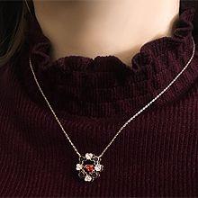 52444锁链形, 单层链, 心形, 动物米奇头 心形