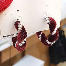 54247耳钉式C形 珍珠 珠子