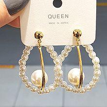54268耳钉式水滴形 珍珠 珠子 圆形 J形 后挂式