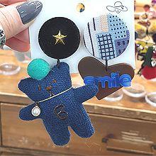 54283耳钉式, 心形, 天体自然现象, 字母数字/符号, 动物星星 熊 珍珠 珠子 字母 条纹 方格 不对称 心形