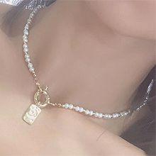 54295穿珠链, 单层链, 天体自然现象长方形 月亮 珍珠 珠子 星星 圆环