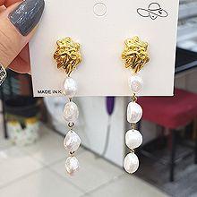 54313耳钉式不规则形 巴洛克珍珠 珠子