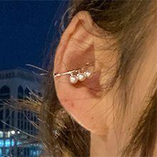 54342耳钉式, 耳夹珍珠 珠子 耳夹