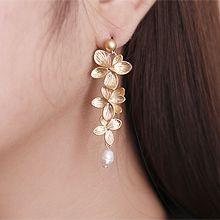 54348耳�式, 植物花 天然珍珠