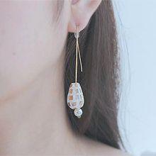 54350耳钉式水滴形 耳线  方形 珍珠 珠子