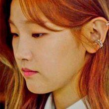 54354耳夹耳夹 C形 珍珠 珍珠 明星款 不对称 朴素丹 韩剧《青春记录》