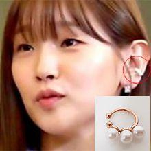 54356耳夹耳夹 C形 珍珠 珠子 明星款 朴素丹 韩剧《青春记录》