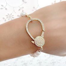54213穿珠链, 单层链天然珍珠 珠子 圆形 水滴形