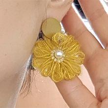 54378耳�式, 植物花 �A形 �� 珍珠 珠子