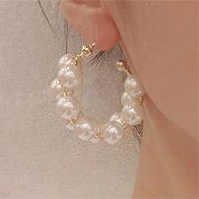 54417耳�式C形 珠子 珍珠 麻花
