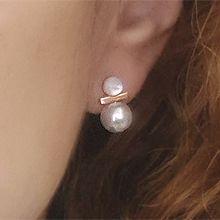 54430耳�式�A形 �L方形 珍珠 珠子