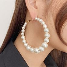 54439耳圈耳扣珠子 珍珠