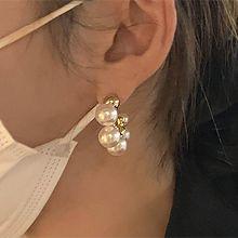 54455耳钉式C形 珍珠 珠子