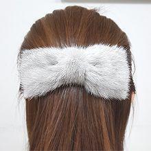 54495边夹顶夹, 蝴蝶结蝴蝶结 纯色 毛球 毛毛 弹簧夹