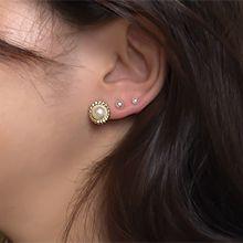 54524耳钉式圆形 珍珠 珠子 二十四件套