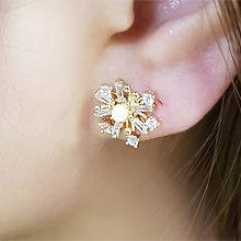 54529耳�式, 植物花 珍珠 珠子