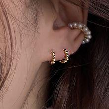 54554耳圈耳扣圆形 圆环 整件925银