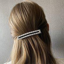 54560边夹顶夹长方形 弹簧夹 珍珠 珠子