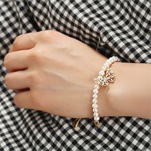 54396手镯形, 穿珠链, 蝴蝶结, 动物蝴蝶 珠子 珍珠